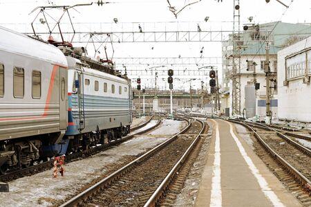 railway points: Train on a way