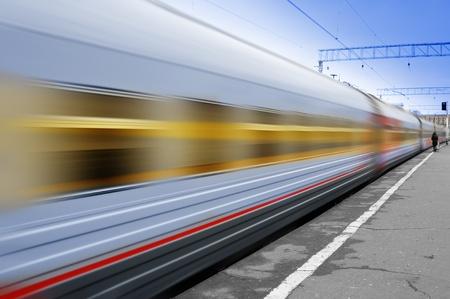 Train en marche