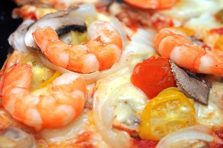 Hot shrimp pizza photo