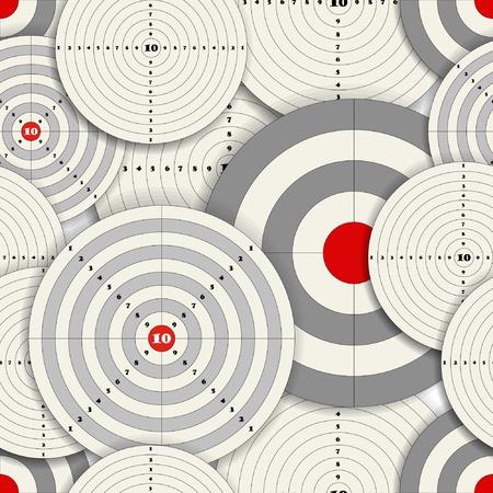 sparare: Seamless sfondo di obiettivi