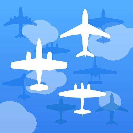 interceptor: Airplanes background