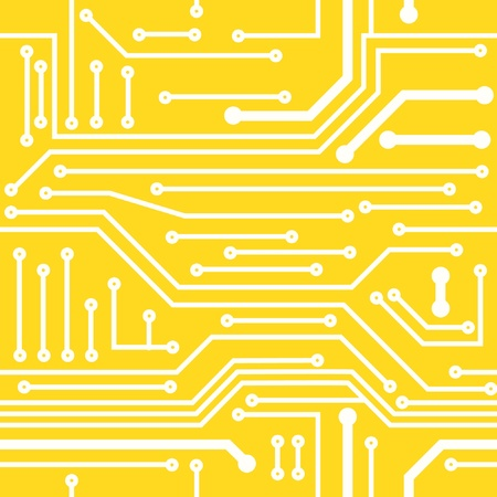 electrical part: Seamless background on computer board Illustration