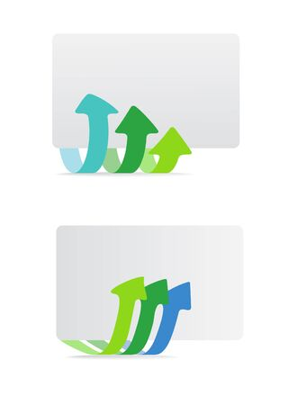 triple:  Banner with arrows template