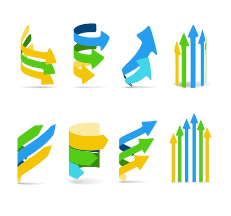 Color arrows set. Cold gamma Stock Vector - 11371900