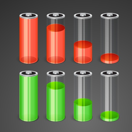 ac voltage source: Batteries with different level of charge