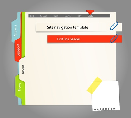 notebook paper: Web site template. Paper style