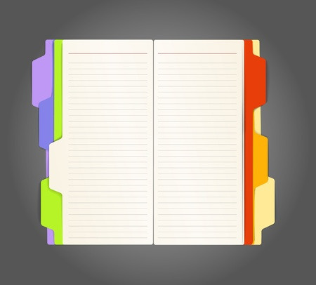 diary: Background of opened diary on a table