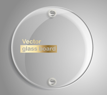 Circle advertising glass board. Place your text on them  Vector