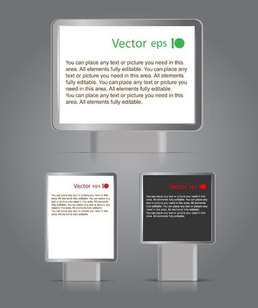 them: Cartelloni pubblicitari diversi formati. Posizionare il testo su di loro Vettoriali