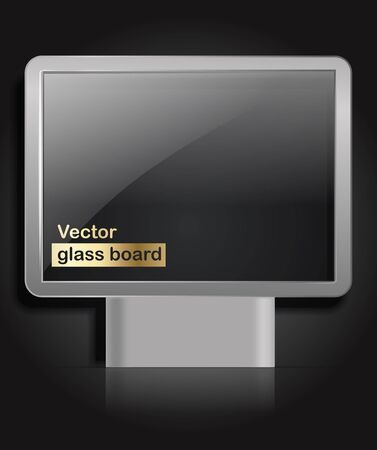 Advertising glass board. Place your text on them Stock Vector - 11333184