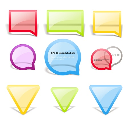 gro: Set of glass style speech bubbles