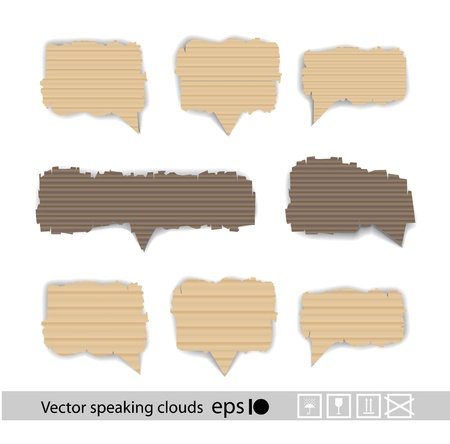 securing: Paper style speech bubbles for the text  Illustration
