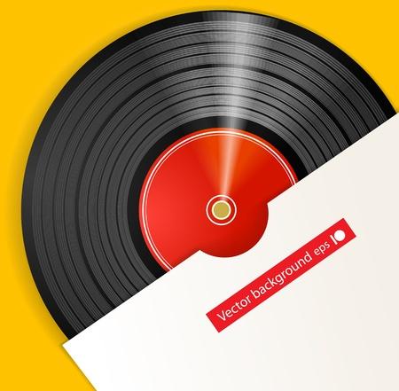 Đĩa vinyl màu đen với nắp