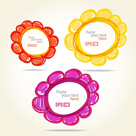 Colorful flowers. Template for any text Vector