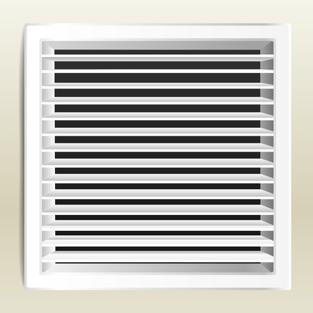 grille: Photo realistic bathroom ventilation window.