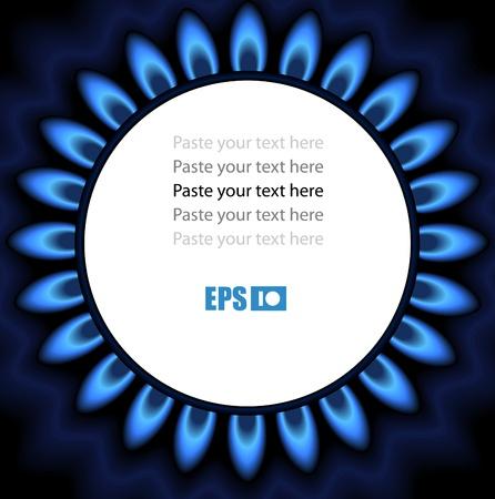 gas cooker: Antecedentes de la llama de gas. �Listo para un texto Vectores