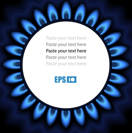 gas burner: Background of flaming gas. Ready for a text