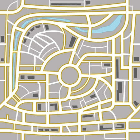 Abstract city map. Seamless background Vector
