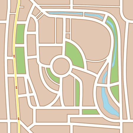City map abstract seamless background Vector