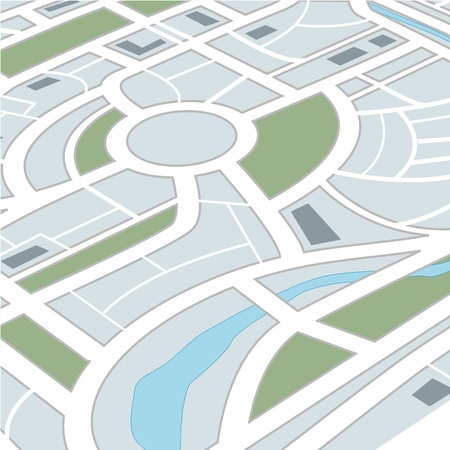infinity road: Perspective background of abstract city map Illustration