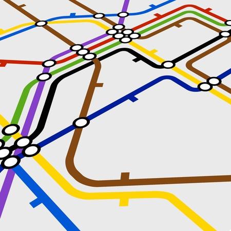 Perspective de fond du régime de métro