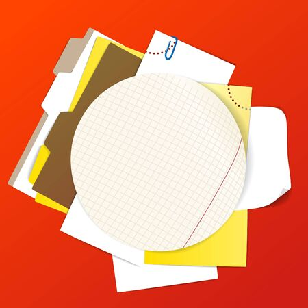 office stuff: Circular background of an office stuff Illustration