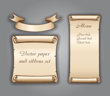 paper scroll: Vintage banners
