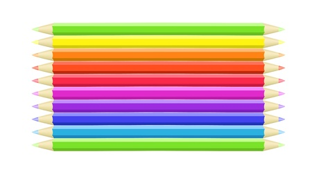 wright: Colorful background different crayons Illustration