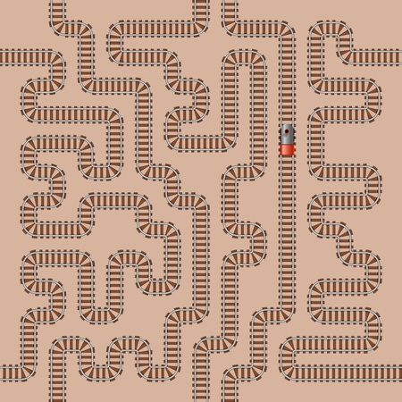 Seamless background of railway pattern Vector