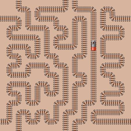 road tunnel: Seamless background of railway pattern Illustration