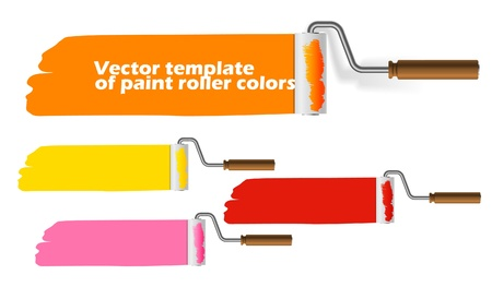 flat brush: Paint roller web template