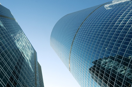 rascacielos: �ngulo de visi�n de los edificios de vidrio