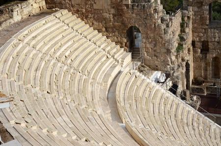 diosa griega: Odeon en la Acrópolis en Grecia