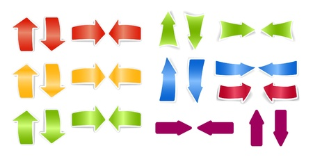Color arrows stickers collection Stock Vector - 11333364
