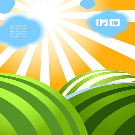 Nature background. You may place your text into clouds  Vector