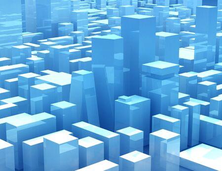 Blue transparent glass skyscrapers Stock Photo - 11371927