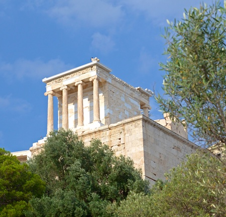 reconstructed: Classic greek temple in Acropolis