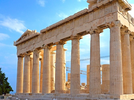 templo griego: Partenón en la Acrópolis, en Grecia Foto de archivo