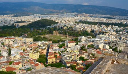 Cityscape of Athens. View from Acropolis. Greece photo