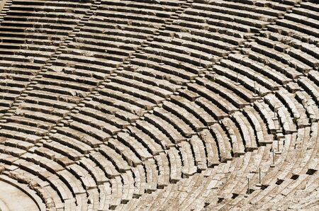 cultural history: Ancient tribunes of theatre in Greece