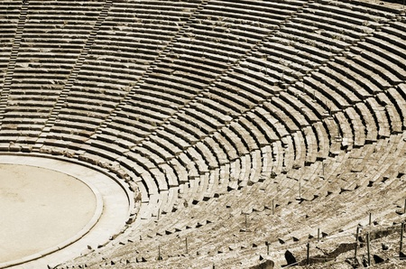 Ancient tribunes of theatre in Greece Stock Photo - 11366018