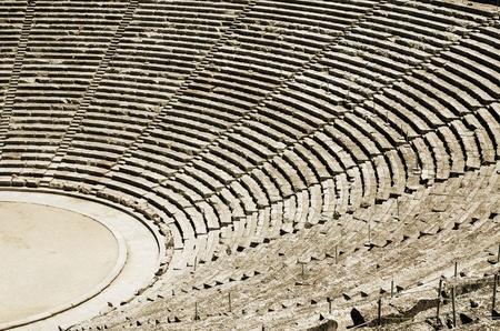 Ancient tribunes of theatre in Greece Stock Photo - 11366018