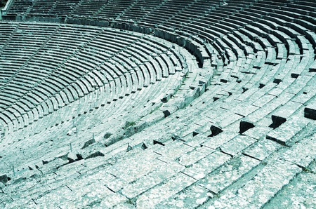 Ancient tribunes of theatre in Greece