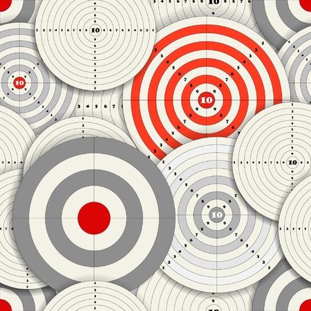 intentie: Naadloze achtergrond van verschillende afmetingen doelen Stock Illustratie