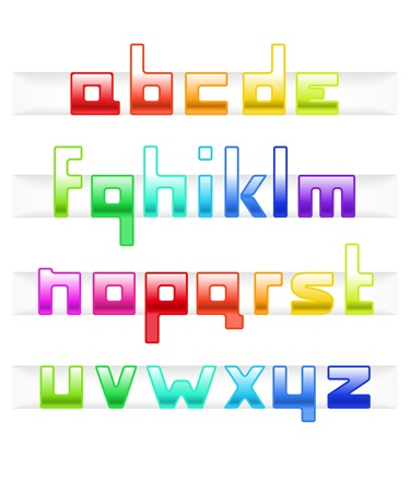 Colorful cubic style font Vector