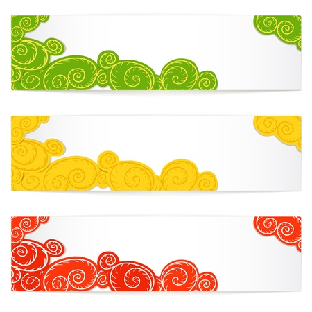 Set of curve pattern vector information banners. Ready for a text Stock Vector - 11371904