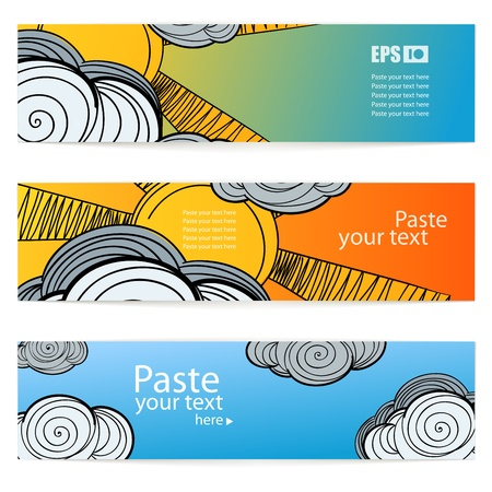 Set of weather information banners. Ready for a text Stock Vector - 11371897