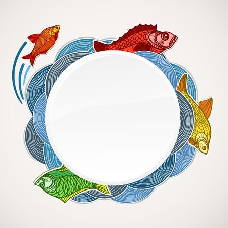 Fisch-Vorlage. Bereit für einen Text