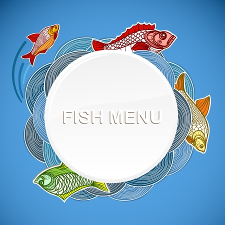 crucian: Fish menu template. Ready for a text Illustration
