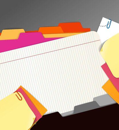 Background of paper stuff Stock Vector - 11333340